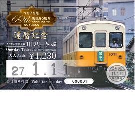 2017年度版1日フリーきっぷ